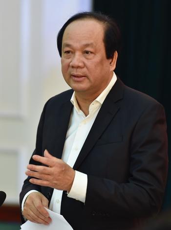 Bộ trưởng, Chủ nhiệm Văn phòng Chính phủ Mai Tiến Dũng tại buổi làm việc với Bộ Giáo dục và Đào tạo sáng 28/3. Ảnh: Nhật Bắc