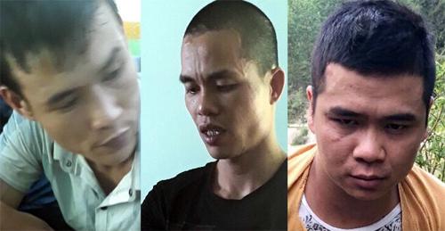 Ba nghi can bị bắt. Ảnh:Phạm Linh.