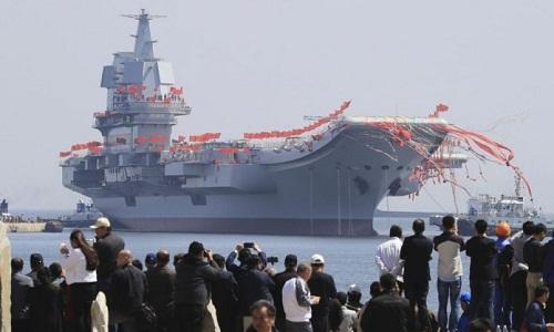 Tàu sân bay nội địa đầu tiên 001A của Trung Quốc. Ảnh:Defence Blog.