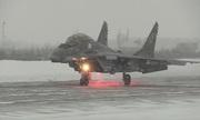 Tiêm kích MiG-29 Nga xuất kích giữa mưa tuyết Bắc Cực