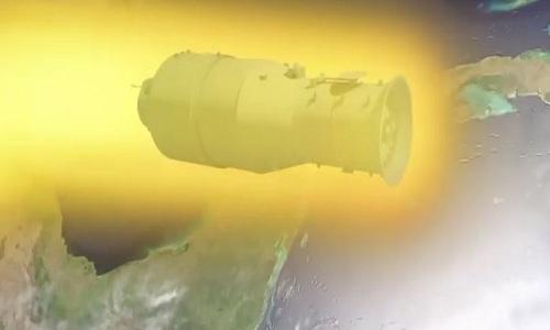Trạm vũ trụ Thiên Cung được dự đoán sẽ bốc cháy phần lớn trong khí quyển. Ảnh: CNN.