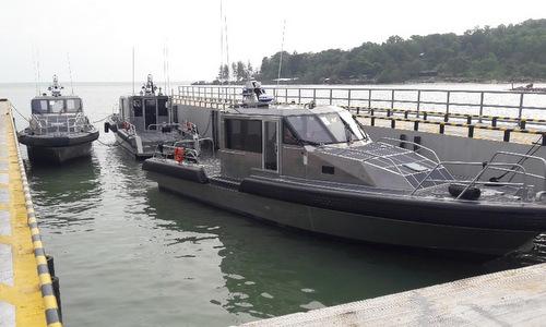 Các xuồng tuần tra Metal Shark 45 Defiant bàn giao cho Việt Nam. Ảnh: Đại sứ quán Mỹ.