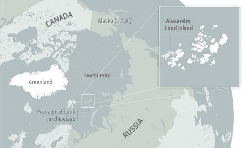 Quần đào Franz Josef Land là nơi đặt căn cứ Bắc Cực của Nga. Đồ họa: RFE.