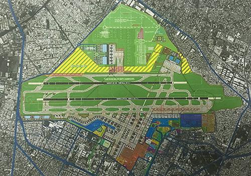 Phương án xây thêm nhà ga T3 về phía nam và các công trình phụ trợ phía bắc của Tư vấn Pháp.