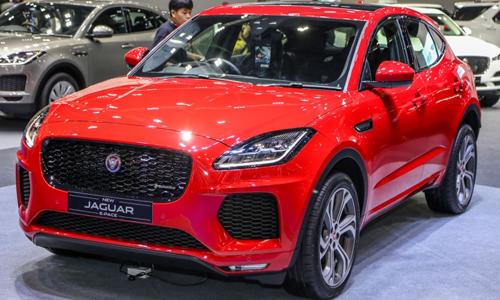 Jaguar E-Pace giới thiệu tại triển lãm Bangkok, Thái Lan.