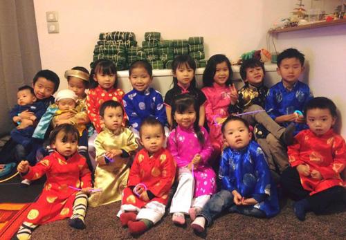 Các bé trong nhóm Cánh Diều chụp vào tháng 1/2016. Ảnh: Trung Kiên.