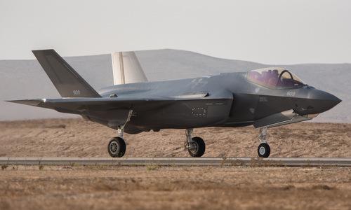 Tiêm kích F-35I chuẩn bị cất cánh. Ảnh: IAF.