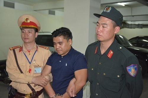 Phan Tha Vong tại cơ quan điều tra. Ảnh: M.C