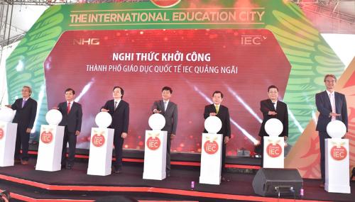 Thành phố giáo dục quốc tế - IEC là đặc khu giáo dục chuẩn quốc tế với tổng số vốn đầu tư hơn 1.000 tỷ đồng, trên diện tích gần 10 ha.
