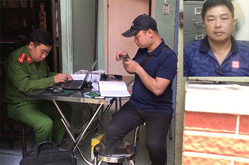 Cảnh sát khám xét đường dây do Hùng cầm đầu. Ảnh: Quốc Thắng.