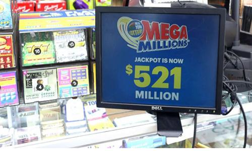 Giải độc đắc của vòng quay tối 30/3 lên đến 521 triệu USD. Ảnh: ABC News.