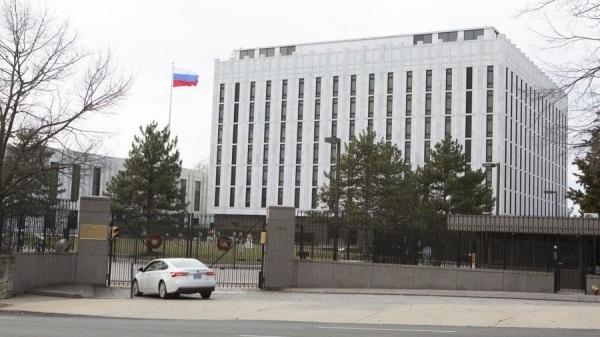 Đại sứ quán Nga tại thủ đô Washington D.C. Ảnh: AFP.