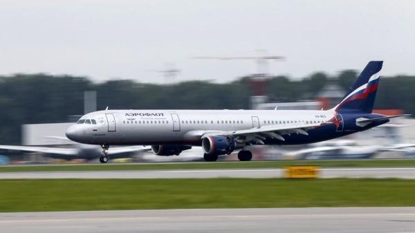 Máy bay Aeroflot của Anh. Ảnh: AFP.
