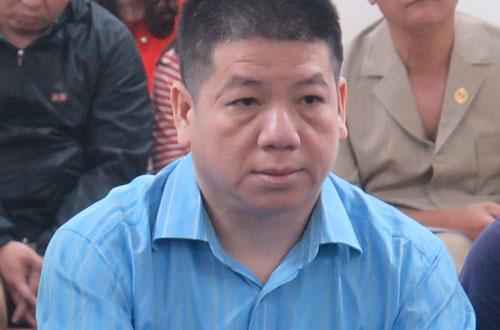 Bị cáo Lâm Hữu Sơn tại phiên tòa ngày 28/3.