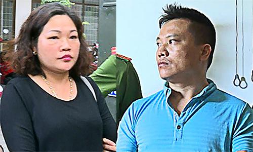 Hai vợ chồng An bị bắt giữ. Ảnh: Quang Bình.