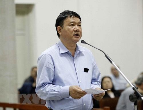 Ông Đinh La Thăng ở phiên tòa cuối tháng 3/2018. Ảnh: TTXVN.