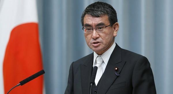 Ngoại trưởng Nhật Taro Kono. Ảnh: