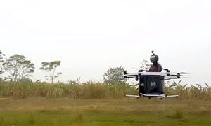 Kỹ sư Hà Nội chế tạo thiết bị bay chở một người