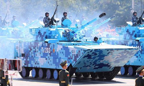 Thiết giáp Trung Quốc trong một cuộc duyệt binh. Ảnh: Chinanews.