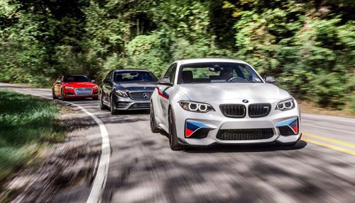 Bộ ba Big Threenước Đức thống trị thị phần xe sang toàn cầu. Ảnh: Caranddriver.