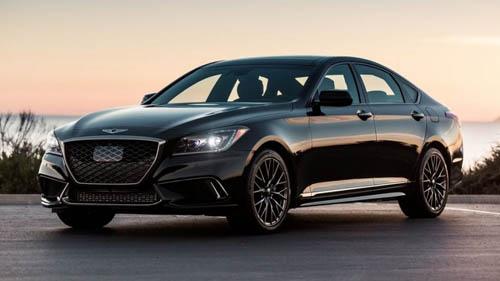 Genesis, thương hiệu hạng sang đầu tiên của ôtô xứ Hàn. Ảnh: Wheels.