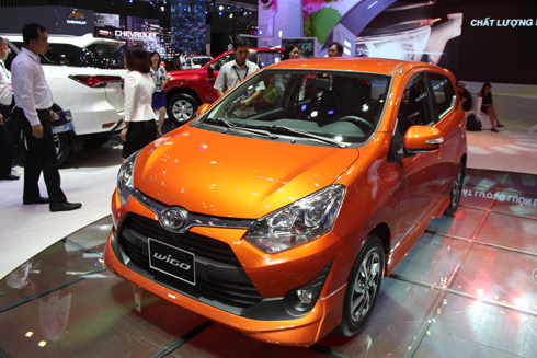 Toyota Wigo trong lần ra mắt tại triển lãm VMS 2017.