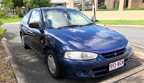 Chiếc Mitsubishi Mirage đời 1990 được rao bán với phần quảng cáo gây nhiều chú ý. Ảnh: Facebook.