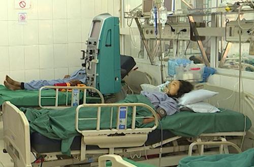 Hai trong số bốn người đã chết do ngộ độc nặng. Ảnh: Hà Giang TV.