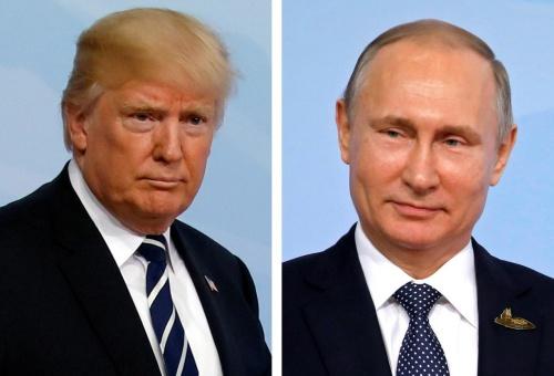 Tổng thống Mỹ Donald Trump và người đồng cấp Nga Vladimir Putin. Ảnh: Reuters.