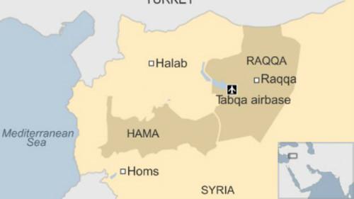 Vị trí thành phố Raqqa. Đồ họa: BBC.