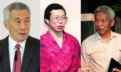 Thủ tướng Singapore Lý Hiển Long (trái) và hai người em. Ảnh: AFP.