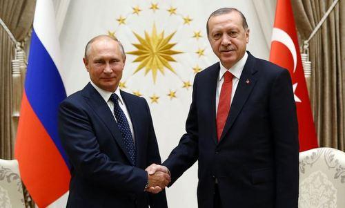 Tổng thống Nga Vladimir Putin và Tổng thống Thổ Nhĩ Kỳ Recep Tayyip Erdogan. Ảnh: AFP.