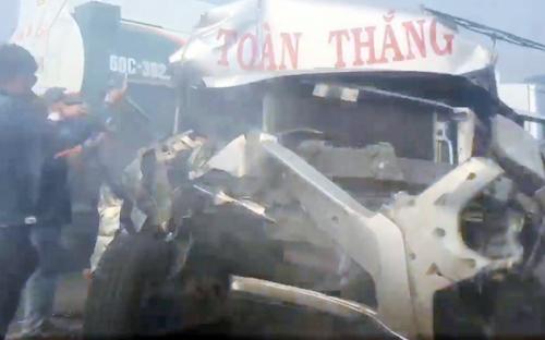 Một số xe bị tai nạn.