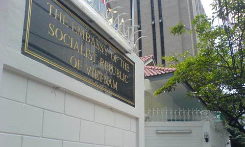 Sứ quán Việt Nam tại thủ đôKuala Lumpur, Malaysia. Ảnh:Star Online.