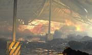 Lực lượng cứu hỏa hai nước dập đám cháy ở Quảng Ninh