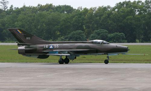 Một tiêm kích F-7 của không quân Myanmar. Ảnh: Airlines.
