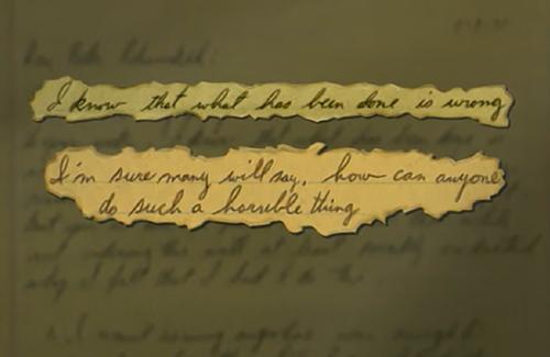 Bức thư thú tội.