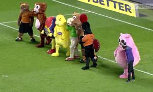 Cuộc thi chạy của Mascot tại sân Molineux