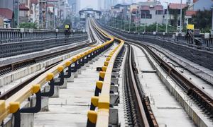 Khu depot tuyến đường sắt Cát Linh - Hà Đông đang hoàn thiện