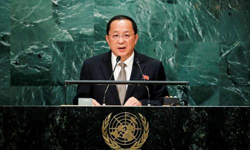 Ngoại trưởng Triều TiênRi Yong-ho. Ảnh: Reuters.