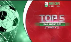 5 bàn thắng đẹp nhất vòng 4 V-League 2018