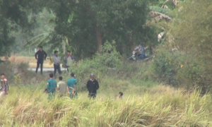 Công an bao vây bãi lau sậy bắt tên cướp ở Sài Gòn