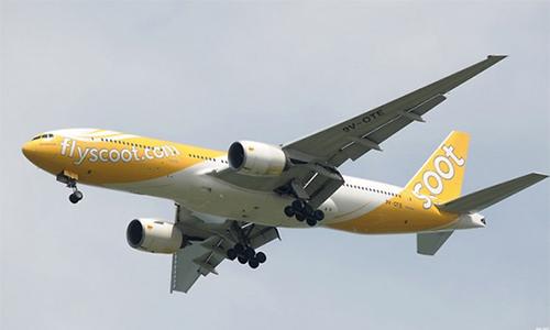 Một máy bay của hãng Scoot. Ảnh: AFP