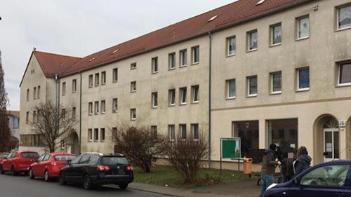 Khu nhà nơi bàSteffi S. sinh sống và sát hại hai con. Ảnh: Bild