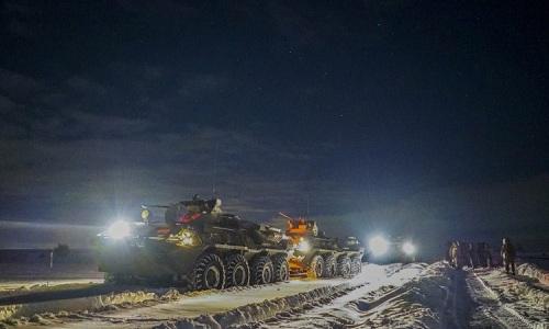 Hình ảnh được cho là thiết giáp Nga được triển khai ở khu vực biên giới với Ukraine. Ảnh: Defence Blog.