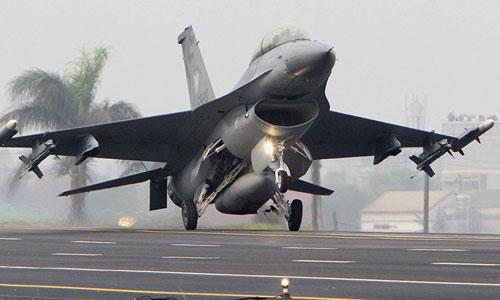 Tiêm kích F-16 Đài Loan mua của Mỹ. Ảnh: CNA.