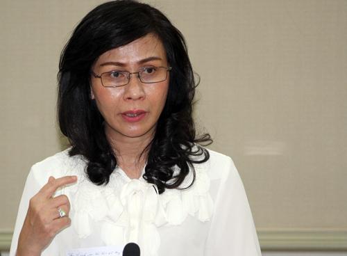 Phó chủ tịch UBND Nguyễn Thị Thu. Ảnh: Mạnh Tùng.