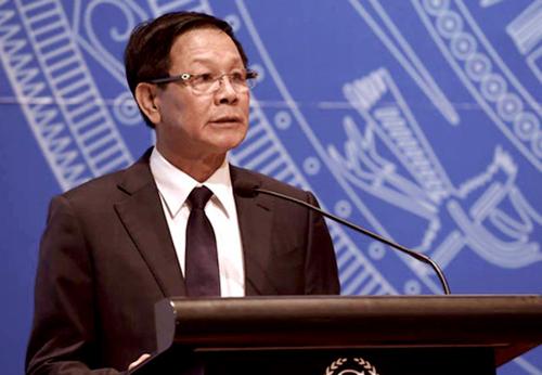 Ông Phan Văn Vĩnh tại một cuộc hội thảotổ chứcvào tháng 10/2016. Ảnh: Bá Đô