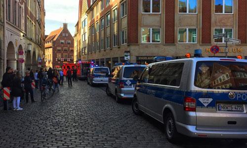 Xe cứu thương và cứu hỏa được triển khai ở hiện trường. Ảnh: Spiegel.