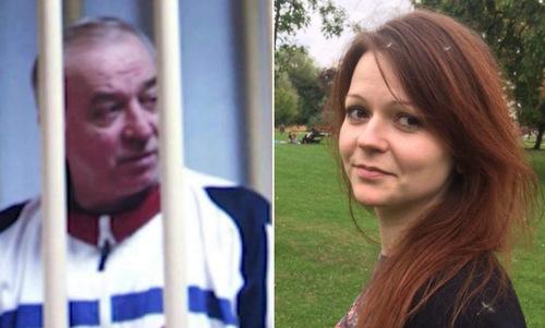 Cựu điệp viên hai mang Nga Sergei Skripal và con gái. Ảnh: AP.